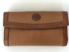 Vintage Dooney & Bourke AWL Wallet Clutch Brown Vintage Lock Checkbook