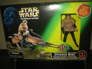 "1 RARE HTF VINTAGE COLLECTABLE 1996 STAR WARS SPEEDER BIKE "" SOLD AS IS """