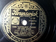 "78 rpm 10"" FRED WARING the loveliest night of the year"