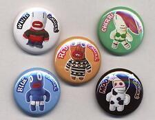 C'MONS Badges five Button Pins set - cmons cmon CMON!