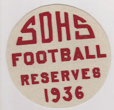 #MISC-0143 -1936 SOUTH DIVISION HIGH SCHOOL FOOTBALL PATCH - MILWAUKEE WISCONSIN