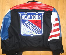 (#1111) New York Ranger Jacket signed by 7 EX RANGERS