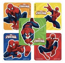 25 Marvel Spiderman Super Hero Stickers Party Favors Teacher Supply Reward