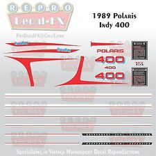 1989 Polaris Indy 400 Graphics Repro 22Pc Snowmobile incl Tunnel & IFS Decals