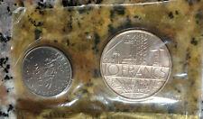 FLEURS DE COINS Rare 10francs 1/2 FRANC 1975 FRENCH COIN française collection