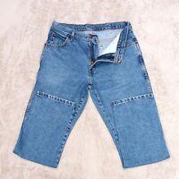 Mens WRANGLER Jeans Blue Regular fit Straight Leg denim trousers Size W34 L32