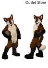 Halloween Sexy Brown Mascot Costume Husky Fox Dog Cosplay Outfit Fursuit Xmas