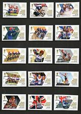 GB 2012 Olympic Gold Medal winners stamps complete set 29 single used stamps