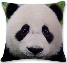 PANDA Head LINEN-COTTON CUSHION COVER, UK Sale