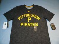 Nike Pittsburgh Pirates Slub MEDIUM BRAND NEW shirt MLB Dri-Fit NWT Pitt