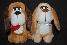 Boy Girl Love Puppy Dogs Hound Valentine Lot of 2 Plush Mega Toy Embroidered Eye