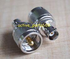 10pcs Adapter PL259 UHF plug Male to BNC Female jack RF connector straight