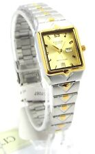 New Citizen Lady Two-tone, Gold-dial- Square Dress Watch