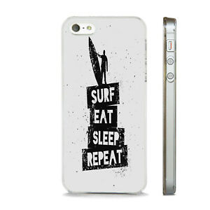 SURF EAT SLEEP REPEAT SURFER     PHONE CASE COVER FITS All APPLE IPHONE MODELS