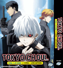 DVD ANIME TOKYO GHOUL Vol 1-49 End +2 OVA +Live Action ~ENGLISH DUBBED~