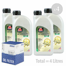 Engine Oil and Filter Service Kit 4 LITRES Millers Oils XF LONGLIFE 5w-40 4L