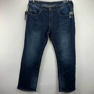 Buffalo David Bitton Mens Driven-X Relaxed Straight Fit Stretch Jeans Blue 38x32