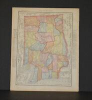 Antique Color map of Washington Circa 1903. Nice detail