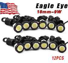 12X  9W White Eagle Eye 18mm LED Motor Car Daytime Running DRL Tail Backup Bulbs
