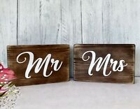 Top Table Mr & Mrs Wedding Signs Rustic Wooden Wedding Venue Decor Free Standing