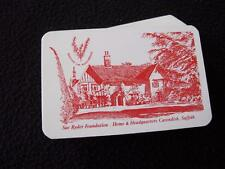 VINTAGE 1980's PACK  of PLAYING CARDS - SUE RYDER FOUNDATION - CAVENDISH SUFFOLK