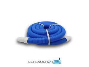 Pool Hose Tuyau de Piscine Aspiration Flexible Nettoyage Fête Socket Ø38mm Bleu