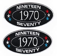 1970 SEW/IRON ON PATCH EMBROIDERED MOTORCYCLE CAR GRADUATION BIRTHDAY YEAR TRUCK