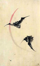 Incorniciato stampa-vintage asiatico giapponese cinese BAT (foto poster arte animali)