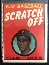Nate Colbert 1970 Topps Scratch Off Unscratched San Diego Padres