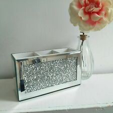 Crushed Diamond Crystal Mirrored Make Up Brush Holder Make Up