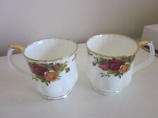 Royal Albert Old Country Roses Mugs set of two 1962 made in England