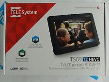 "TELESYSTEM TV LCD PORTATILE 9"" DVB-T2  HD MEDIA PLAYER 220V/12V - 28000103 -"