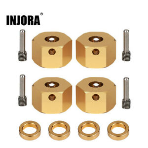 Brass 12MM Wheel Hex Extended Adapter for 1/10 RC Car Axial SCX10 iii AXI03007