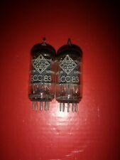 PAIR TELEFUNKEN ECC83 ECC 83 RIBBED PLATES       +++GEPRÜFT+++