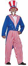 Adult Mens Uncle Sam Halloween Costume Usa July Patriotic Hero History