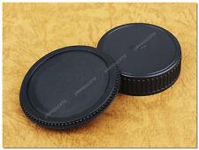 Lens Cap Set Pentax K Mount PK DSLR / SLR Body + Rear Cap KX K5 K200 MZ LX