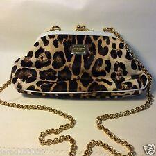 "Dolce & Gabbana ""MISS SICILY"" LEOPARD PRINT SHOULDER/CROSSBODY BAG Horse Leather"
