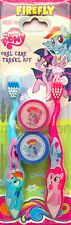 My Little Pony Firefly Kids Girls Toothbrush Soft 2 Pack With Cap Travel Kit