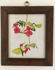 Framed Art Original Painting Hummingbird-Dierwechter Frame-Jens Risom Design JRD