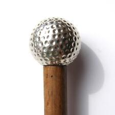 Pelota De Golf De Plata Bastón. ley De Plata Vintage De Golf Club Walking Cane