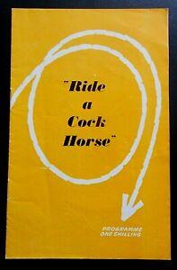 Ride A Cock Horse programme Bristol Hippodrome Theatre 1965 Peter O'Toole