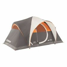 Coleman Yarborough Pass Fast Pitch 6 Person 12 x 7 Family Camping Tent w/Rainfly