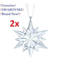 2x Swarovski Little Star Christmas Tree Ornament 5257592 NEW in Gift Box!