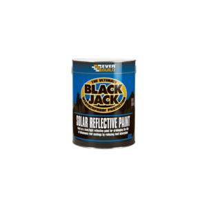 EVERBUILD 907 BLACK JACK SOLAR REFLECTIVE BITUMINOUS ROOF PAINT SILVER 5 LITRE