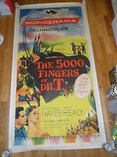 5,000 Fingers of Dr. T ORIGINAL 1953 LINENBACKED 3-SHEET POSTER Hans Conreid