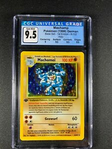 Pokemon 🇩🇪 German 1st Edition Base Set Machamp 8/102 STRONG CGC 9.5 Gem Mint