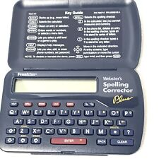 Franklin Websters Spelling Corrector Plus Model Number Ncs-101 Dated 1994 1997