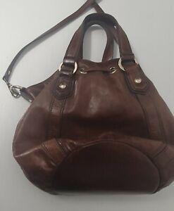 Oroton chocolate brown Bucket Bag