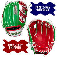 """Wilson A2000 Mexico Country Pride 1786 Model 11.5"""" Infield Baseball Glove"""