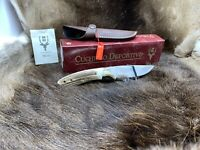 Muela Cocker Fixed Blade  Knife Genuine Stag Handles & Sheath Mint In Box 11A
